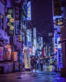 2021 여름밤 비오는 홍대 야경 - 상수동, 연남동, 홍대입구역